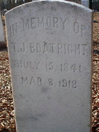 Thomas Jefferson Boatright Gravestone - Sharon Presbyterian Church Cemetery