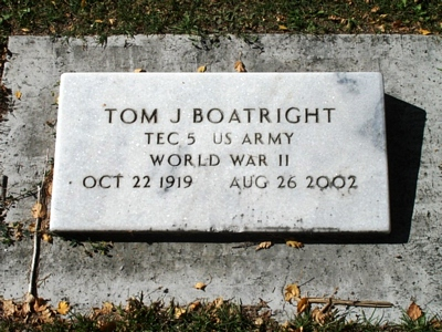Thomas Jefferson Boatright Gravestone