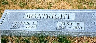 Thomas Lowery and Elsie Ollie Wolaver Boatright Marker
