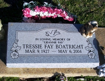 Tressie Fay Curtis Boatright Gravestone