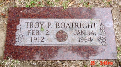 Troy Preston Boatright Gravestone