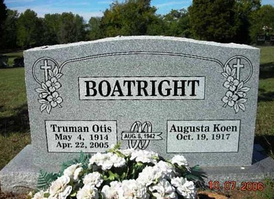 Truman Otis Boatright Gravestone