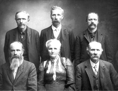 The Boatwrights;  Granville Jasper, Valentine, Henry Newton, Ambrose Jasper, Sarah Frances, David Watson Boatwright