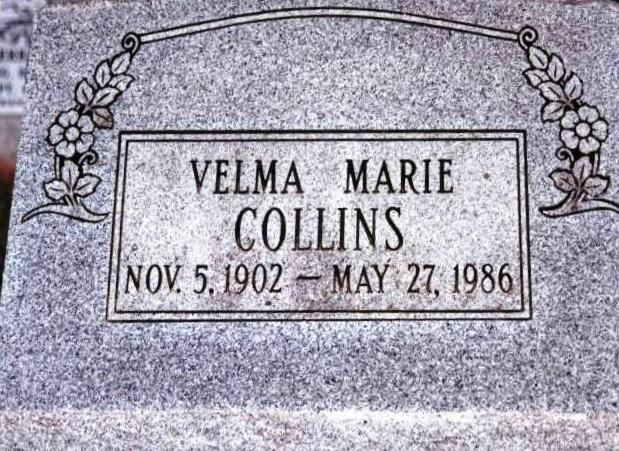 Velma Marie Boatright Collins Gravestone