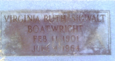 Virginia Ruth Boatwright Gravestone