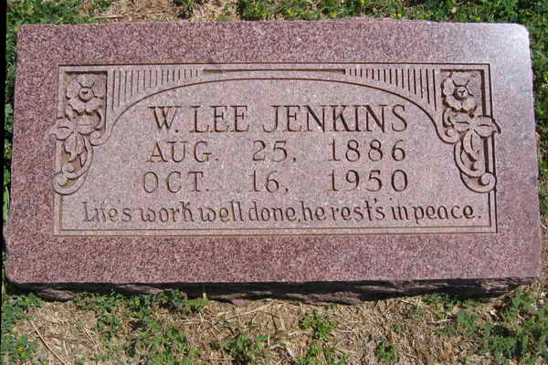 William Lee Jenkins Gravestone