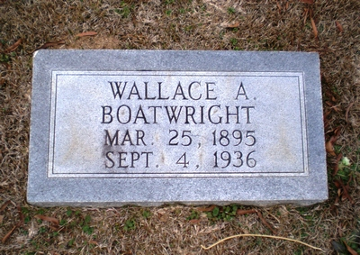Wallace Alvin Boatwright Gravestone