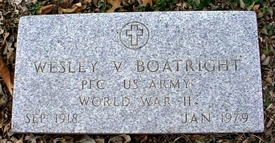 Wesley V. Boatright Gravestone