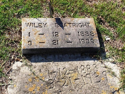 Wiley Boatright Gravestone