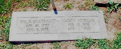 William Benjamin and Nancy Morgan Boatwright Gravestone