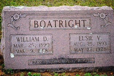 William Dolphus and Elsie Virginia Thompson Boatright Gravestone