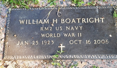 William Harold Boatright Gravestone