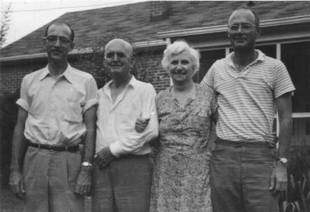 (L - R) 1960 - William Bromley Boatright, William Henderson Boatright, Jennie Rebecca Bromley Boatright, and James Cullen Boatright