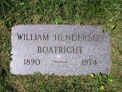 William Henderson Boatright Gravestone