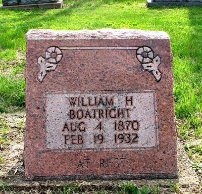 William Henry Boatright Gravestone