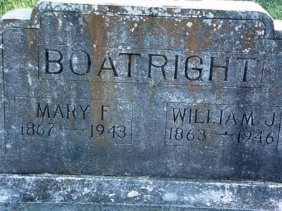 William James and Mary Florence Perdue Boatright Gravestone