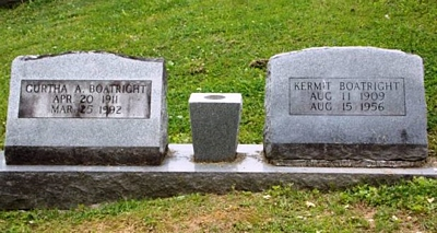 William Kermit and Gurtha Addington Boatright Gravestone