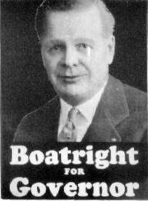 William Louis Boatright campaign poster for Governor of Colorado