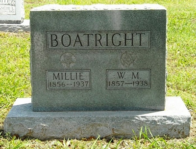 William Milton and Mille Katherine Simmons Boatright Gravestone