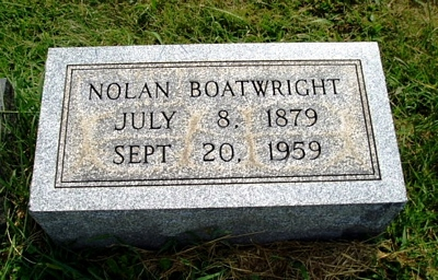 William Nolan Boatwright Gravestone