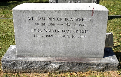 William Penick and Rena Mary Walker Boatwright Gravestone