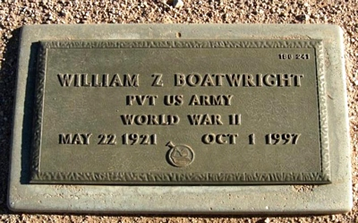 William Zenith Boatwright Marker