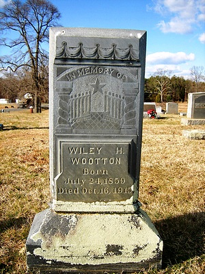 Wyley H. Wootton Gravestone